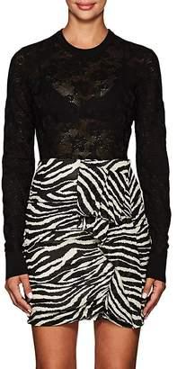 Dolce & Gabbana Women's Floral Wool-Blend Lace Crewneck Sweater