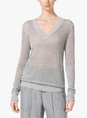Michael Kors Mesh-Linen Sweater