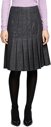 Saxxon Wool Pleated Skirt $298 thestylecure.com