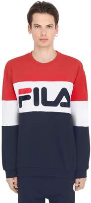 Color Block Crewneck Cotton Sweatshirt