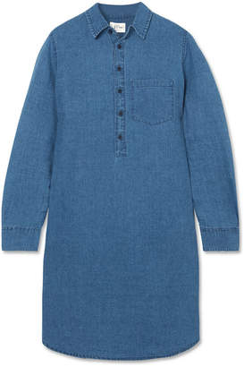 J.Crew Linen And Cotton-blend Chambray Mini Shirt Dress - Indigo