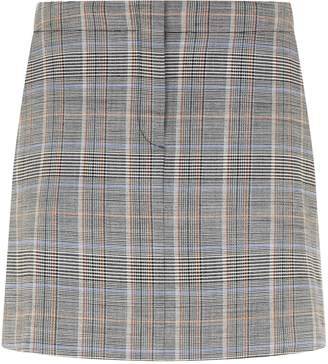 Theory Check Print Mini Skirt