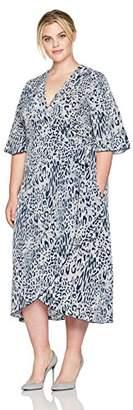 Melissa McCarthy Women's Plus Size Wrap Dress