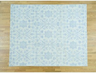 """Isabelline One-of-a-Kind Cabragh Tone-on-Tone Arts and Crafts Design Hand-Knotted 8' x 9'10"""" Wool Ivory/Blue Area Rug Isabelline"""
