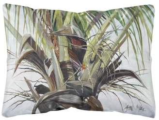 Caroline's Treasures Top Palm Tree Canvas Fabric Decorative Pillow