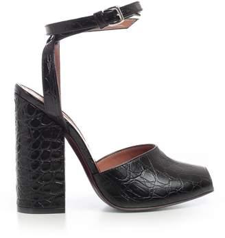 Marni Crocodile Effect Sandals