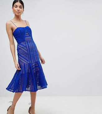 Jarlo Tall Cami Strap Lace Midi Dress