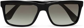Prada Square-Frame Acetate Sunglasses $280 thestylecure.com