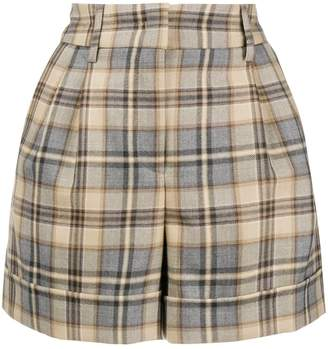 Alberta Ferretti high waisted checked shorts
