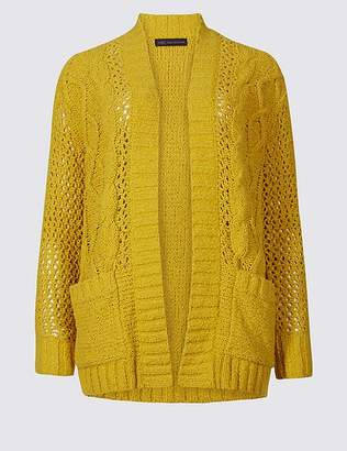 Marks and Spencer Cotton Rich Textured Cardigan