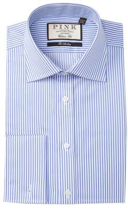 Thomas Pink Striped The Sterling Classic Fit Dress Shirt