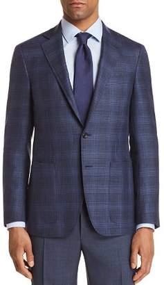 Canali Kei Tonal Plaid Hopsack Weave Regular Fit Sport Coat