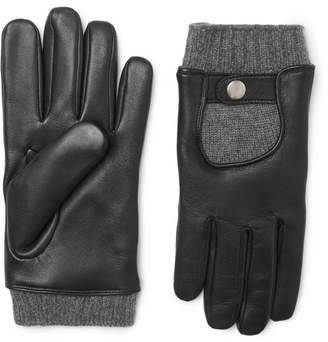 Mulberry Cashmere and Leather Gloves - Black