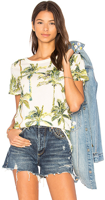 Chaser Vacation Palm Trees Tee in Ivory $62 thestylecure.com