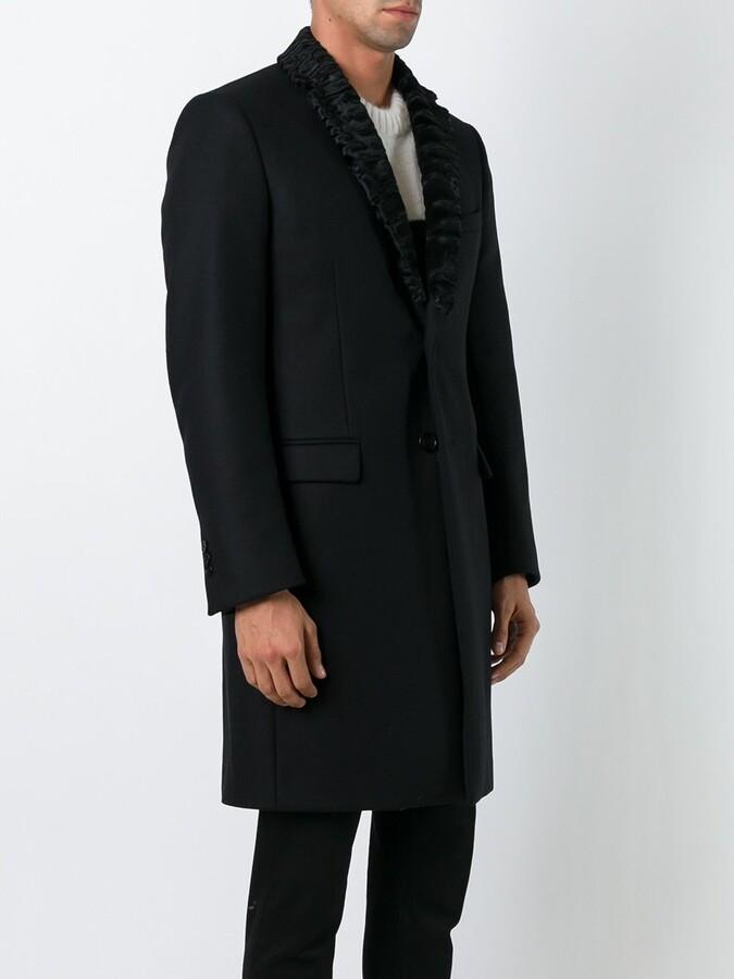 Fendi lamb fur lapel coat
