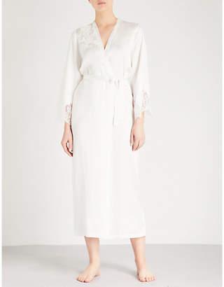 Marjolaine Egerie silk-satin long robe