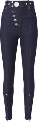 Alexander Wang Snap Detail High Waist Jeans $495 thestylecure.com
