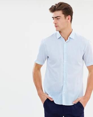 Cerruti Droplet Pattern Short Sleeve Button-Up