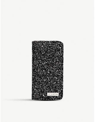 Skinnydip Midnight glitter folding iPhone 6/6s/7/8 case