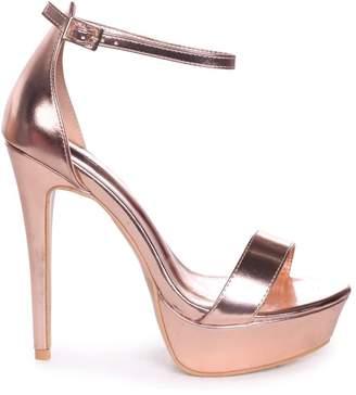5c977718fa1 Linzi Alesha Rose Gold Nappa Platform Stiletto Heel