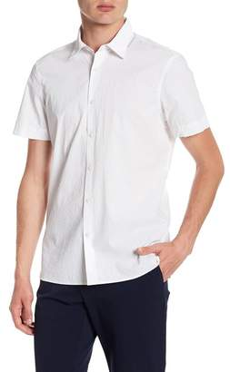 Perry Ellis Geometric Short Sleeve Slim Fit Shirt