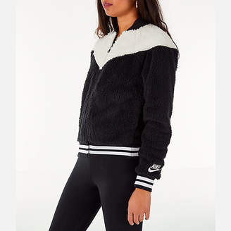 Nike Women's Sportswear Sherpa Wolf Bomber Jacket