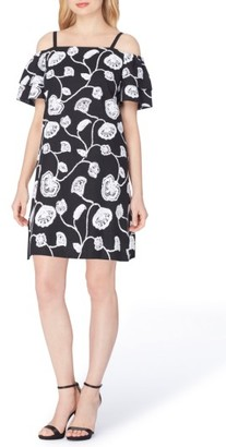 Women's Tahari Embroidered Linen Blend Dress $134 thestylecure.com