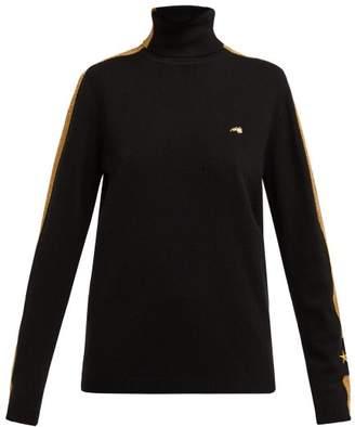 Bella Freud Night Club Owner Rollneck Cashmere Sweater - Womens - Black Multi