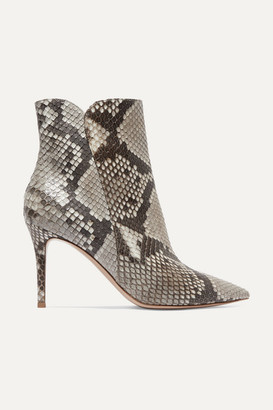 Gianvito Rossi Levy 85 Python Ankle Boots - Snake print
