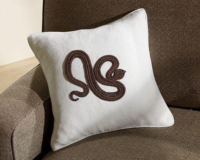 Serpent Zardozi Pillow