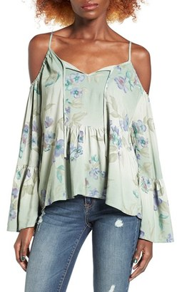 Women's O'Neill Taavi Floral Print Cold Shoulder Top $49.50 thestylecure.com