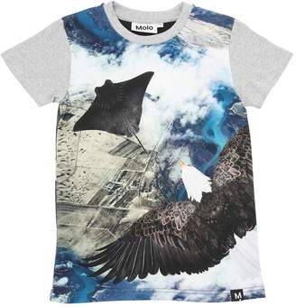 Molo Flying Printed Cotton Jersey T-Shirt