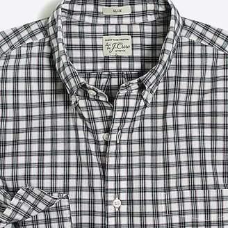 J.Crew Slim stretch Secret Wash shirt in heather poplin check