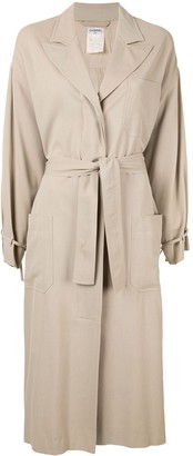 Chanel Pre-Owned relaxed fit tied long coat