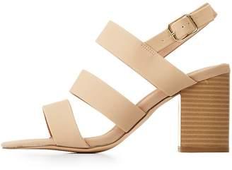 Charlotte Russe Slingback Block Heel Sandals