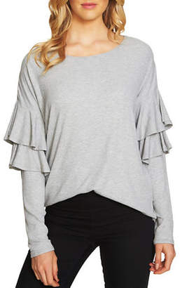 CeCe Long-Sleeve Rib-Knit Top