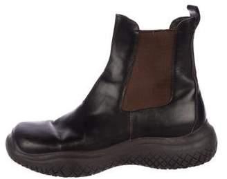 Prada Sport Square-Toe Chelsea Boots