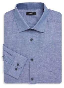 Theory Dover Chambray Dress Shirt