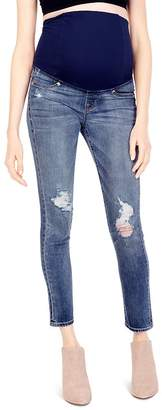 Ingrid & Isabel Maternity Sasha Skinny Jeans in Distressed