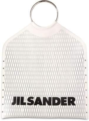 Jil Sander (ジル サンダー) - JIL SANDER カットレザー トップハンドルバッグ