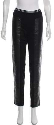 Burning Torch Leather-Accented Mid-Rise Leggings