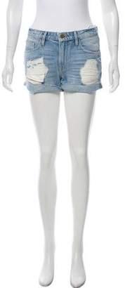 Frame Mid-Rise Denim Shorts