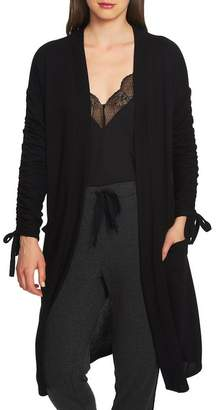 1 STATE 1.State Ruched Sleeve Long Cardigan