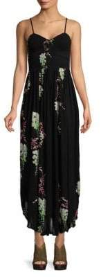 Free People Printed Spaghetti-Strap Maxi Dress