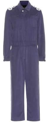 Burberry Appliquéd cotton artist overalls
