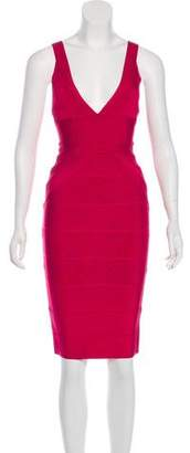 Herve Leger Bandage Knee-Length Dress