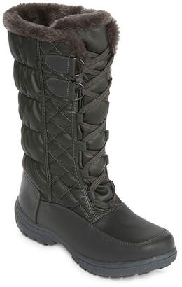 totes Womens Tracey Insulated Winter Boots Lace-up