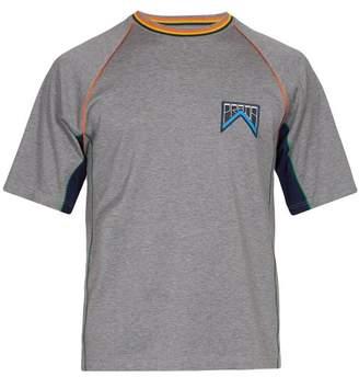 Prada Logo Cotton T Shirt - Mens - Grey Multi