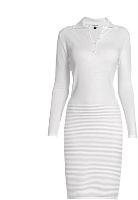 Rumour London Olivia Ivory Soft Merino Wool Blend Knitted Dress