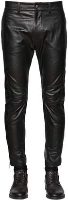 Diesel Slim Fit Cropped Nappa Leather Pants